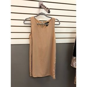 Tan block dress